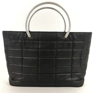 Chanel Vintage Small Gray Tote